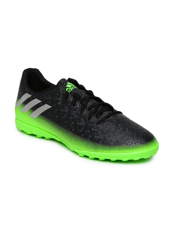 871c46ff122db Buy ADIDAS Men Charcoal Grey   Green MESSI 16.4 TF Football Shoes ...