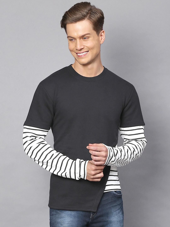Campus Sutra Men Black Sweatshirt