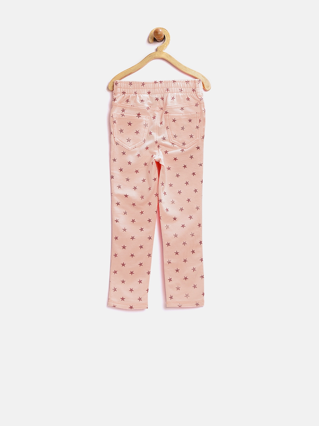 de890ab1f67fb1 Buy The Childrens Place Girls Pink Shimmer Star Print Jeggings ...