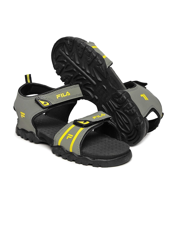 4211b638aa16 Buy FILA Men Grey   Yellow Renata Sports Sandals - Sports Sandals ...