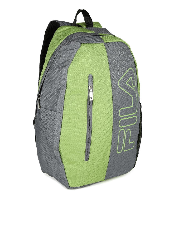 Buy FILA Unisex Green   Grey Mars Laptop Backpack - Backpacks for ...