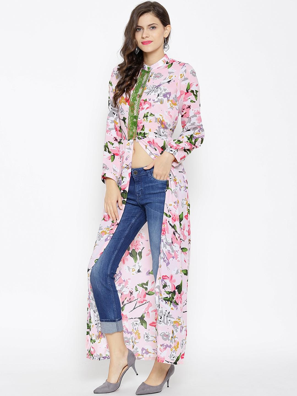 aa87beff877 Buy SASSAFRAS Women Pink Printed Maxi Top - Tops for Women 1510819 ...