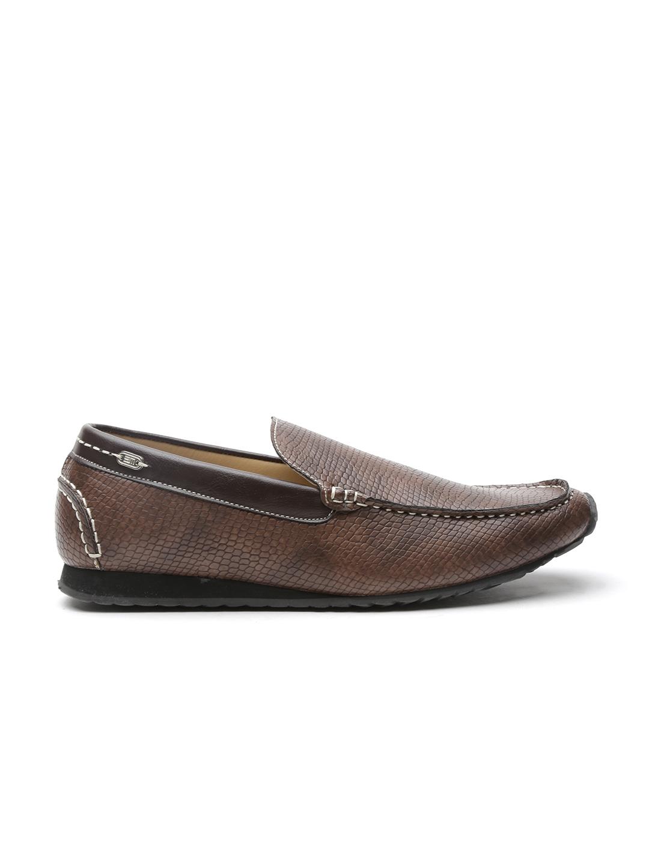 c5b345c3c8b Buy Steve Madden Men Brown Textured Regular Loafers - Casual Shoes ...
