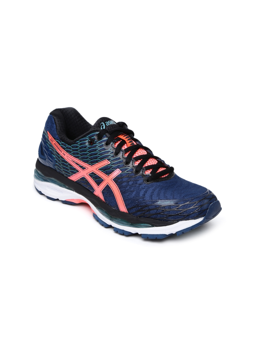 3fcbb210c9a1cf Buy ASICS Women Navy Blue GEL NIMBUS 18 Running Shoes - Sports Shoes ...