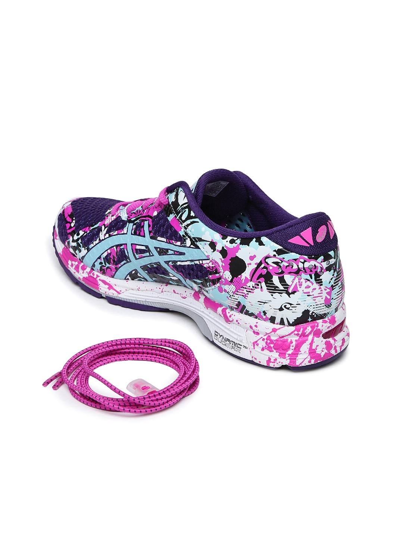 Buy ASICS Women Purple   Green GEL NOOSA TRI 11 Running Shoes ... af2c056179