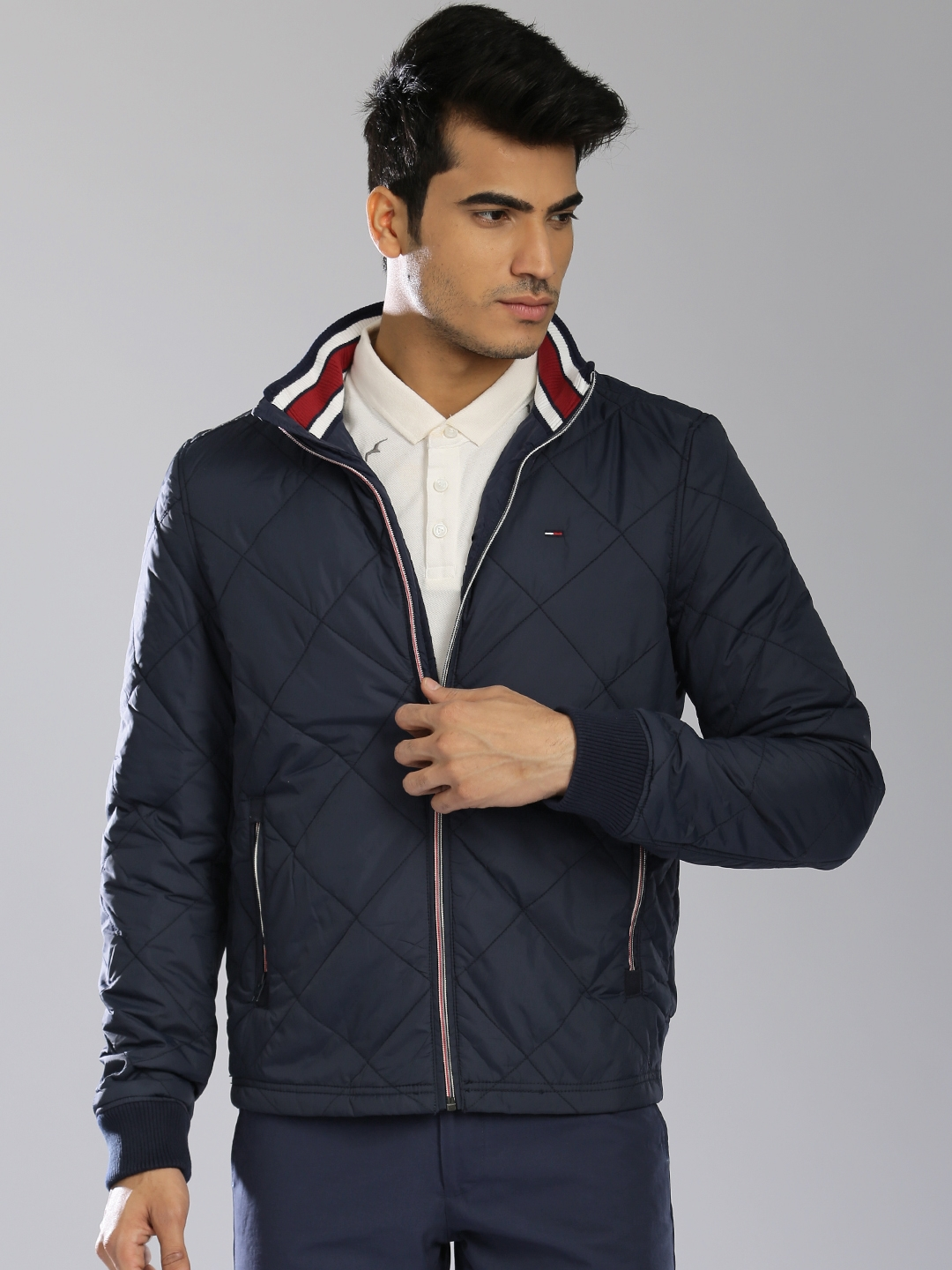 94a966d5b2e0b ... Tommy Hilfiger Navy Quilted Jacket Jackets For Men 1519063 cozy fresh  f93a4 90162  Ted Baker DALWAY Geo ...