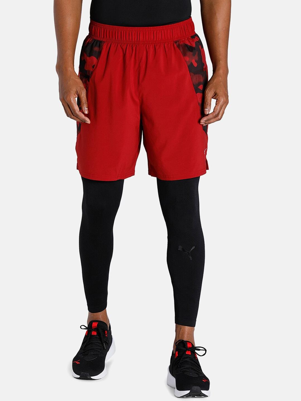 Puma Men Red Printed Running Sports Shorts