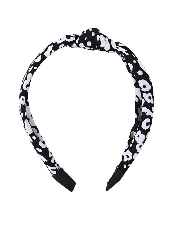 MARC LOUIS Women Black   White Printed Bandana Hairband