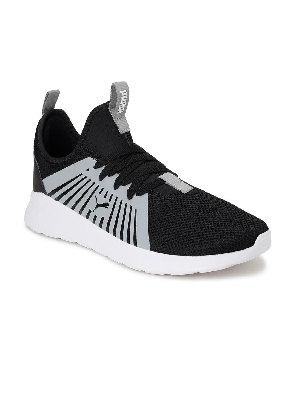 Puma Men Black   Grey Anzarun Lite V3 IDP Running Shoes