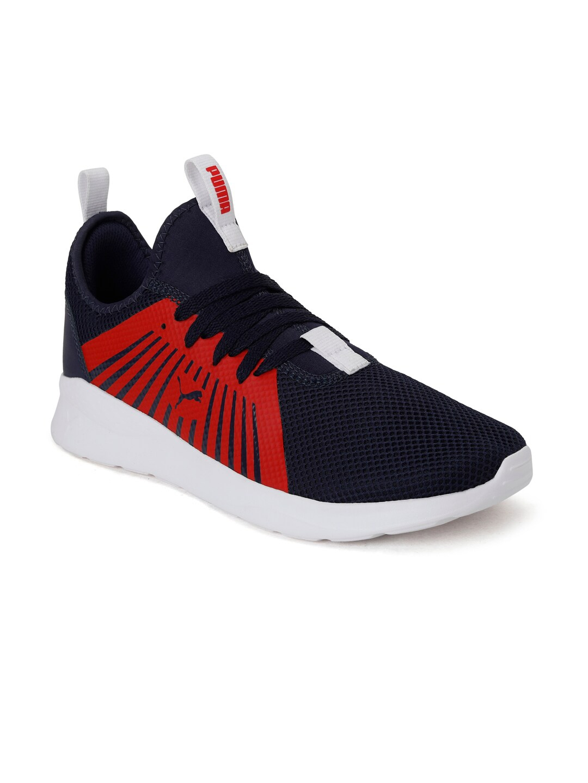 Puma Men Navy Blue Anzarun Lite V3 IDP Mesh Running Shoes