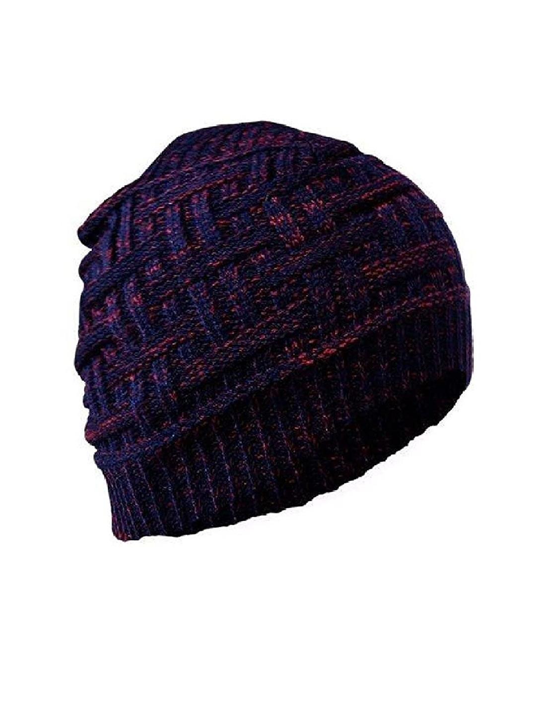 Gajraj Unisex Purple Beanie Woolen Skull Cap