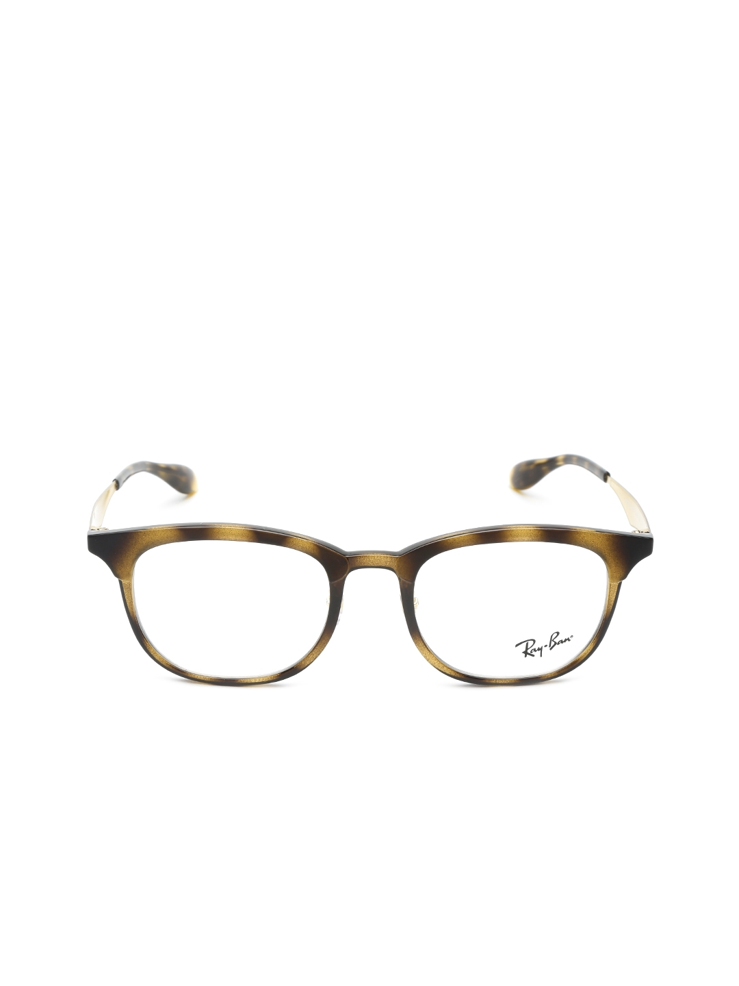 17bc06701f8 Buy Ray Ban Unisex Brown Printed Square Frames 0RX7112568351 ...