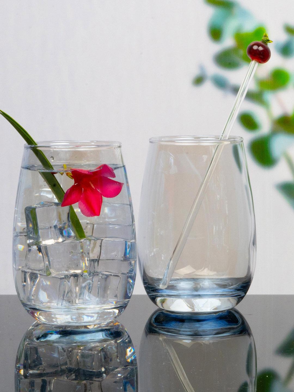 GOODHOMES Set Of 6 Transparent Glass Tumblers