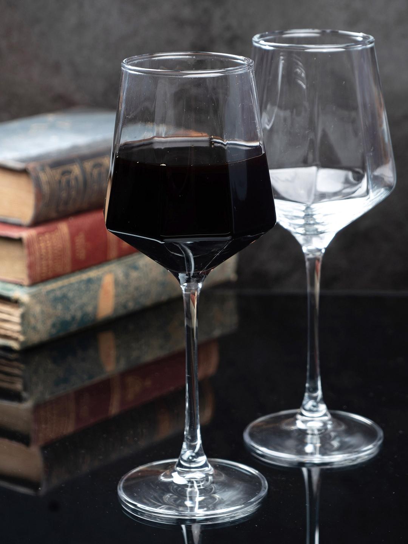 GOODHOMES Set Of 6 Transparent Wine Glass