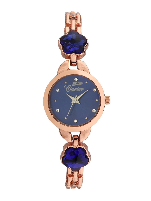 Hob Forest Essentials Women Blue Analog Watch   Bracelet Gift Set