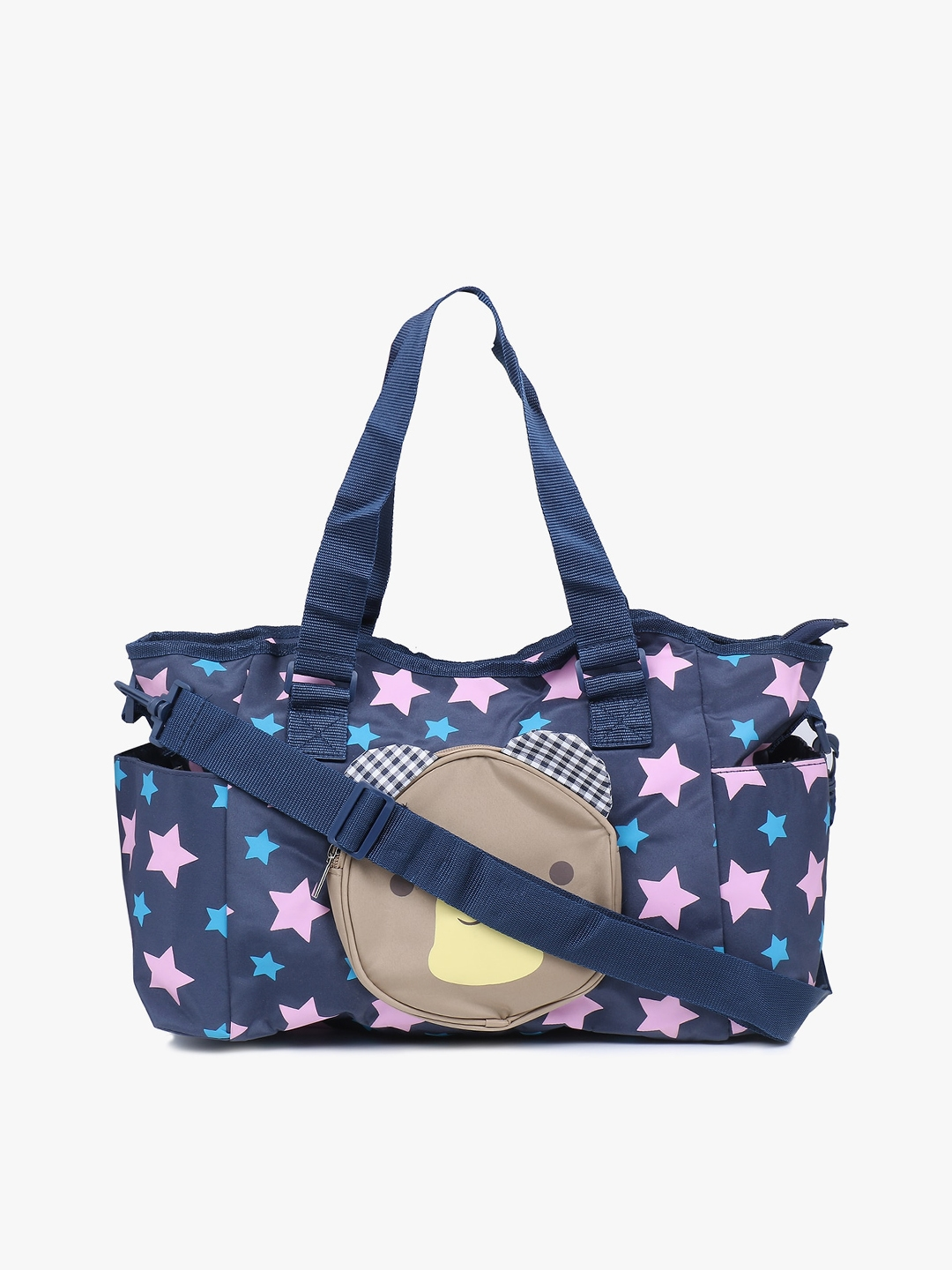 POKORY Blue Baby Diaper Changing Shoulder Bag with pockets