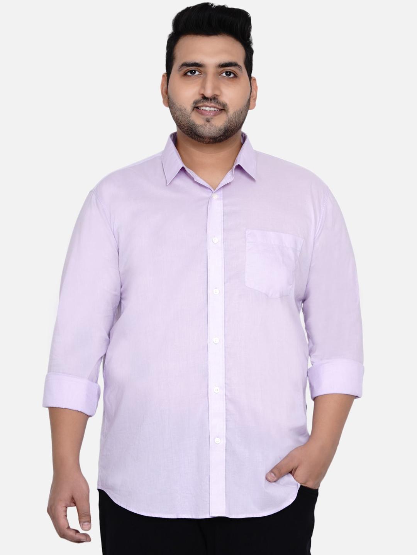 John Pride Men Lavender Opaque Casual Shirt