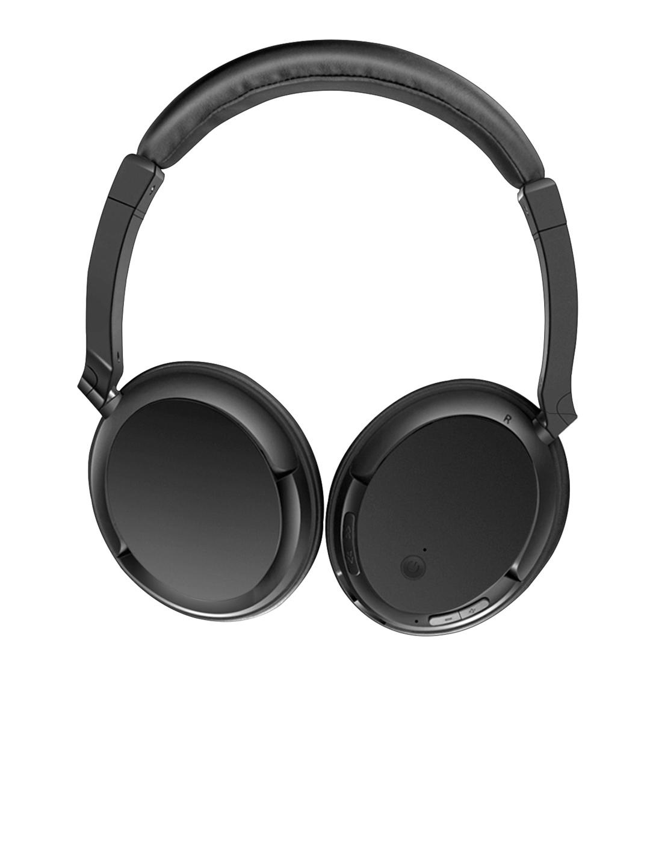 INONE Black Solid Bluetooth Headphones
