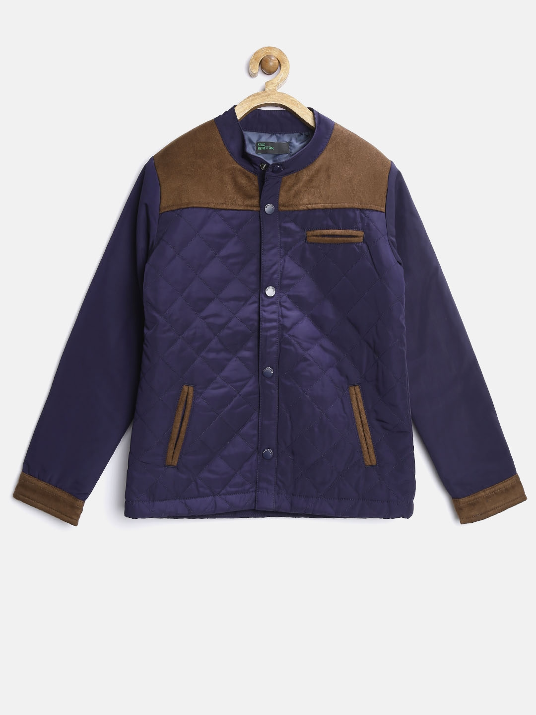 7c18bc06e7db Buy United Colors Of Benetton Boys Navy Quilted Jacket - Jackets for ...