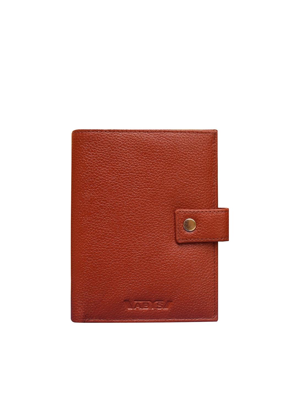 ABYS Unisex Brown Leather Passport Holder