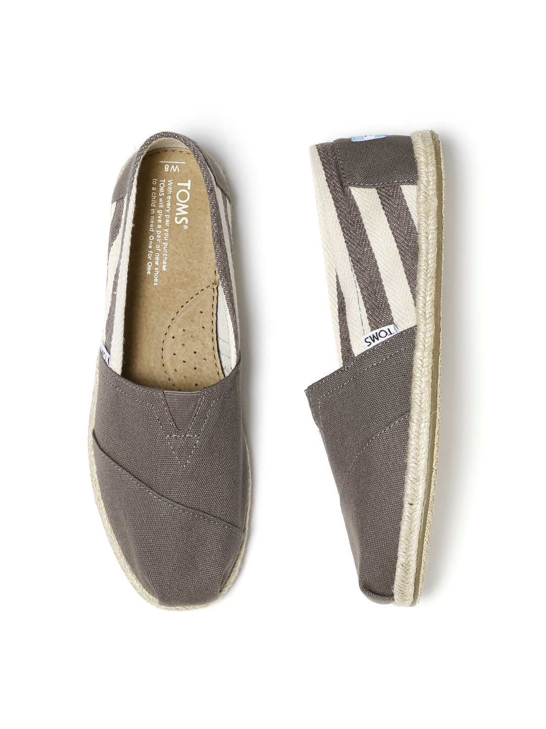 15b7beffebd Buy TOMS Women Taupe Striped Espadrilles - Casual Shoes for Women 1539837