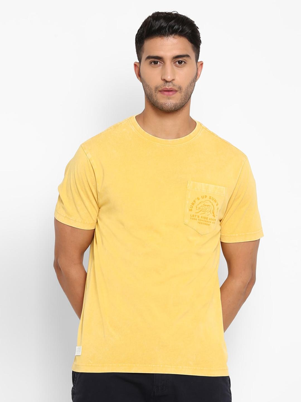 Royal Enfield Men Yellow Solid T shirt