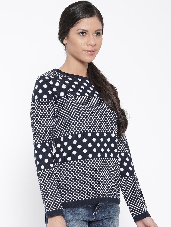 ef97c99afc0 Buy Honey By Pantaloons Women Navy Dot Pattern Sweater - Sweaters ...