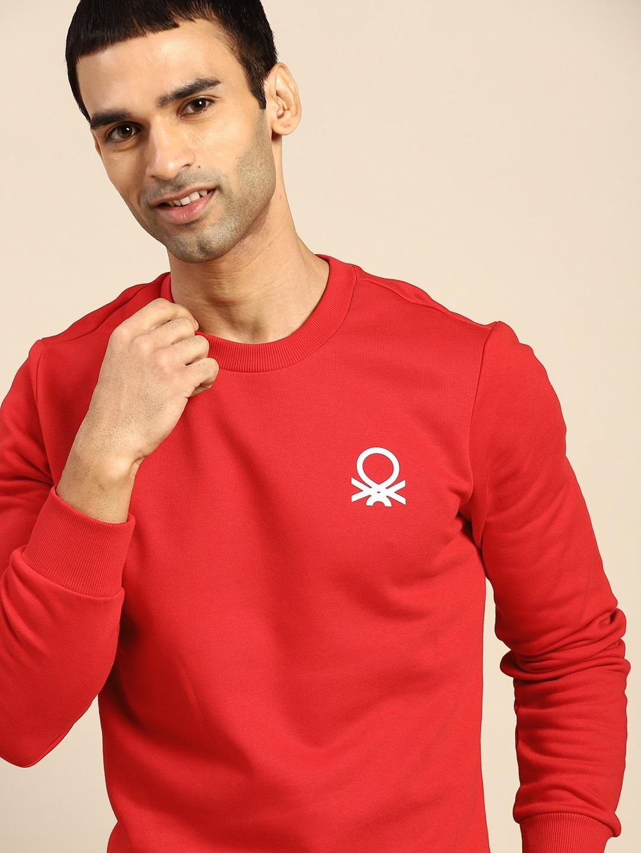 United Colors of Benetton Men Red Sweatshirt