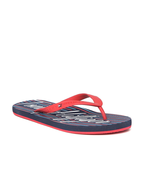 bb9e6d74e Buy Tommy Hilfiger Men Red   Blue Striped Flip Flops - Flip Flops ...