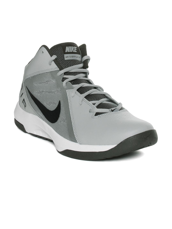07bac39f339e Buy Nike Men White   Grey The Air Overplay IX Basketball Shoes ...