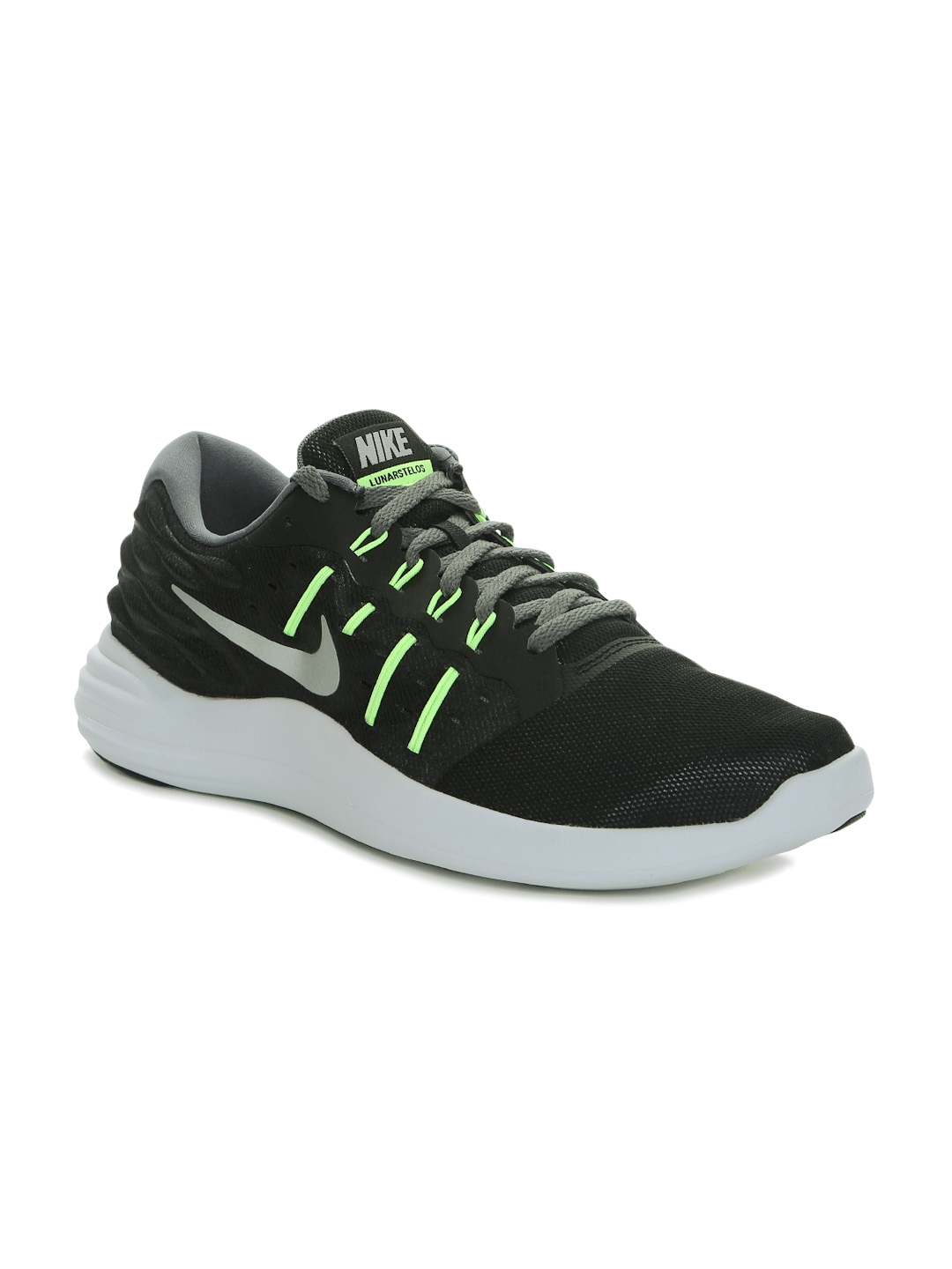 2cab4f2550d Buy Nike Men Black Lunarstelos Running Shoes - Sports Shoes for Men ...