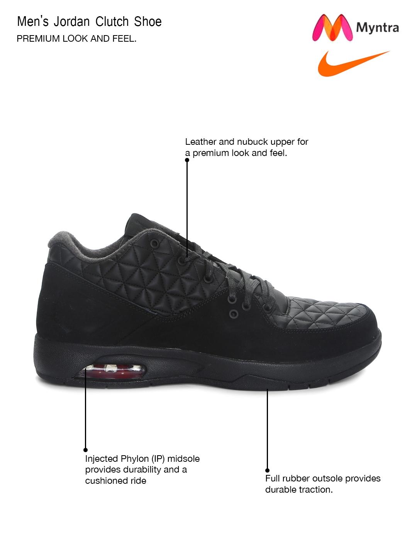 cad8a0013e0f Buy Nike Men Black Jordan Clutch Basketball Shoes - Sports Shoes for ...