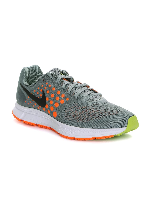 size 40 97f14 d7088 Nike Men Grey   Orange Printed Zoom Span Running Shoes