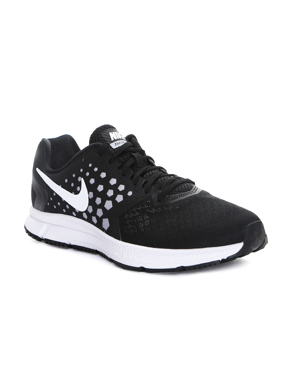 official photos 3b530 5995a Nike Men Grey   Black Printed Zoom Span Running Shoes