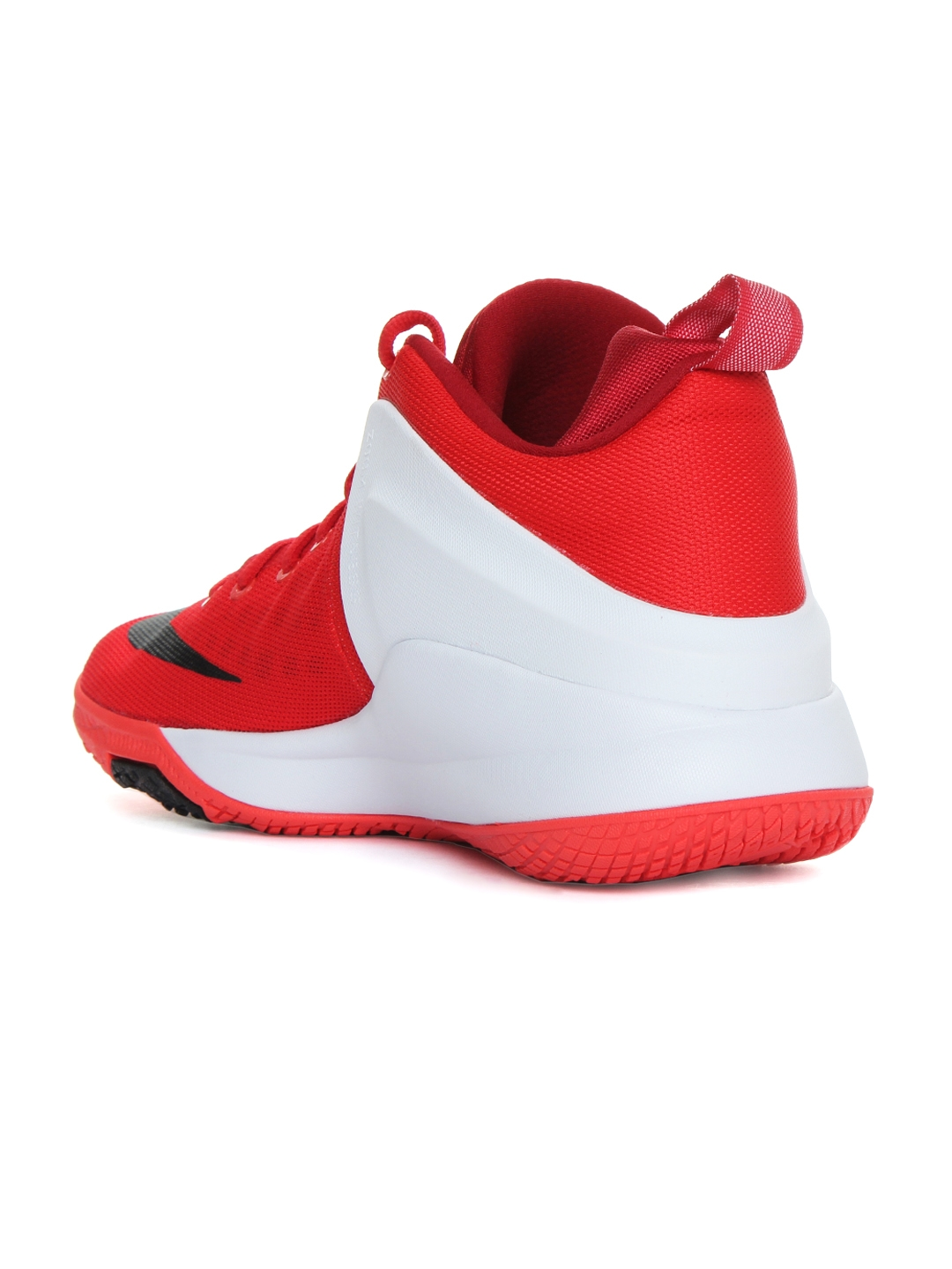39ba0a965ab4 Nike Men Red   White ZOOM Witness LeBron James Mid-Top Basketball Shoes