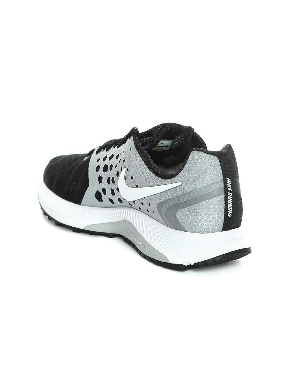 214e7be83517 Buy Nike Women Black   Grey Zoom Span Running Shoes - Sports Shoes ...