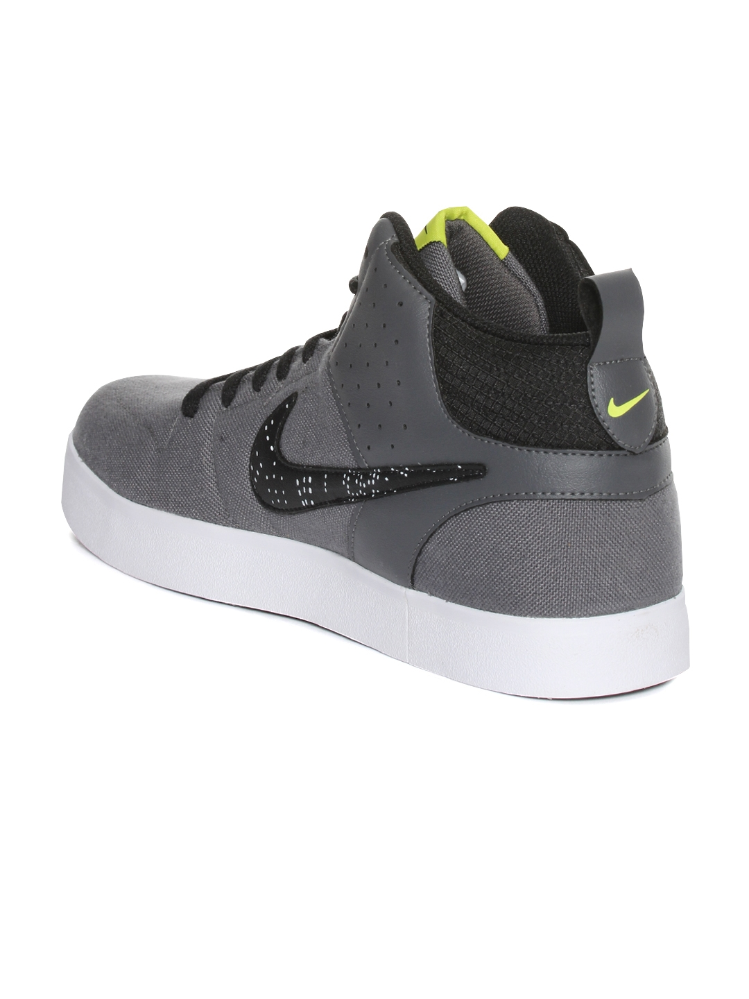 quality design aaec6 6d67f Nike Men Grey Liteforce III MID Solid Mid-Top Sneakers