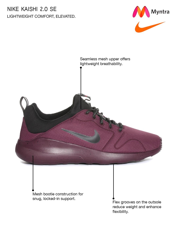 premium selection 7b83d 72408 ... sale nike men burgundy kaishi 2.0 se woven regular sneakers 646b3 17cd4