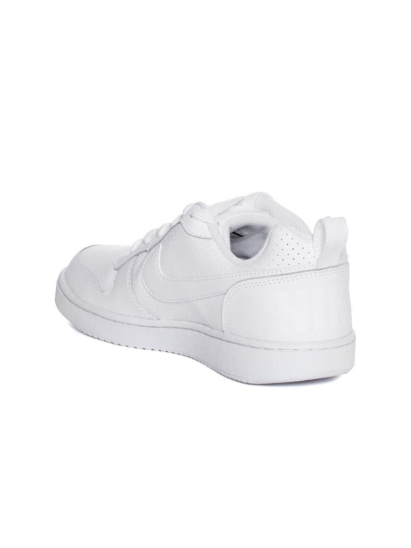 the best attitude e9d76 5197a Nike Women White Court Borough Low Regular Sneakers