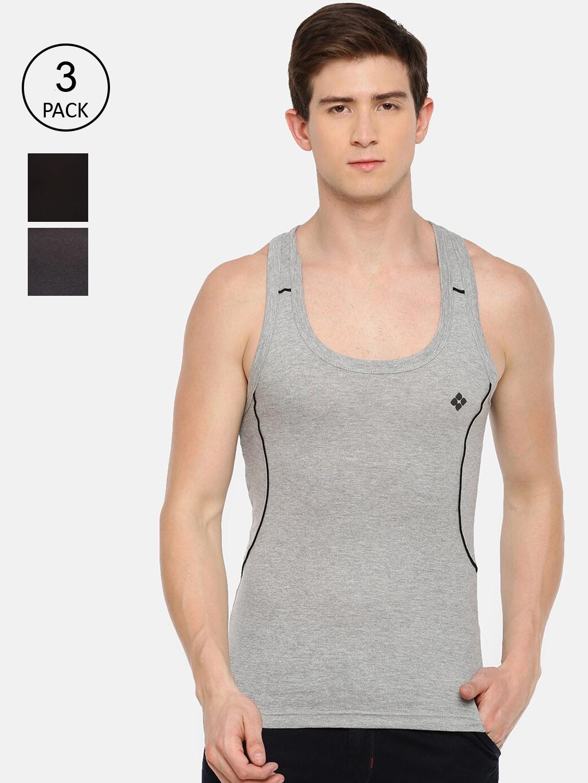 Dollar Bi  gboss Men Pack Of 3 Assorted Cotton Gym Vests