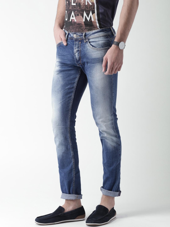 69f1efea Buy ALCOTT Men Blue Skinny Fit Mid Rise Clean Look Jeans - Jeans for ...
