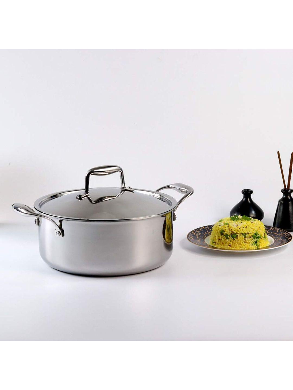 Wonderchef Silver Toned Stainless Steel Cookware Casserole