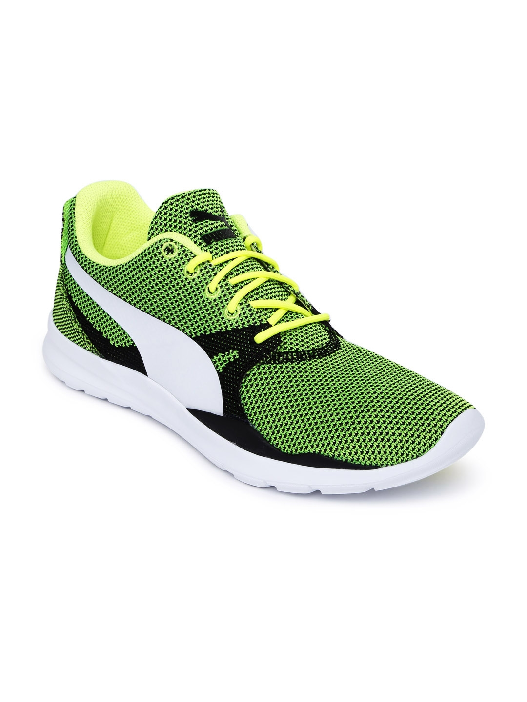 6db281745f00f7 Buy Puma Men Green Duplex Evo Knit Sneakers - Casual Shoes for Men ...