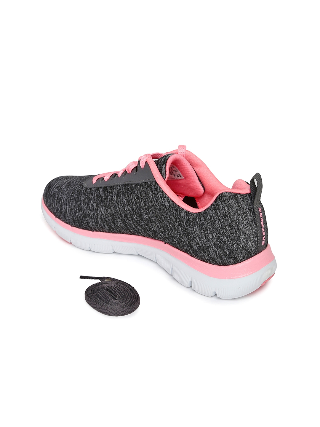 f62f9729bdb0 Buy Skechers Women Charcoal Grey Flex Appeal 2.0 Sneakers - Casual ...