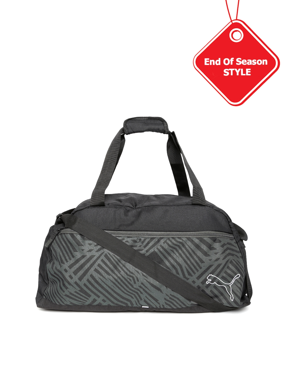 Buy PUMA Unisex Black Printed Echo Sports Duffel Bag - Duffel Bag ... 22ae86540c4d0
