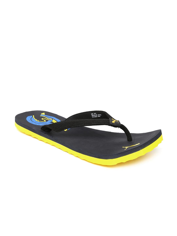 3f55439aef58e Buy PUMA Men Black Wave II DP Flip Flops - Flip Flops for Men ...