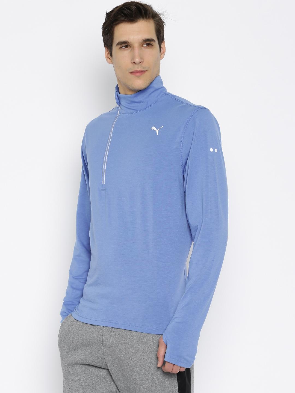 1010495d2938 Buy PUMA Men Blue NightCat PWRWARM T Shirt - Tshirts for Men 1568438 ...