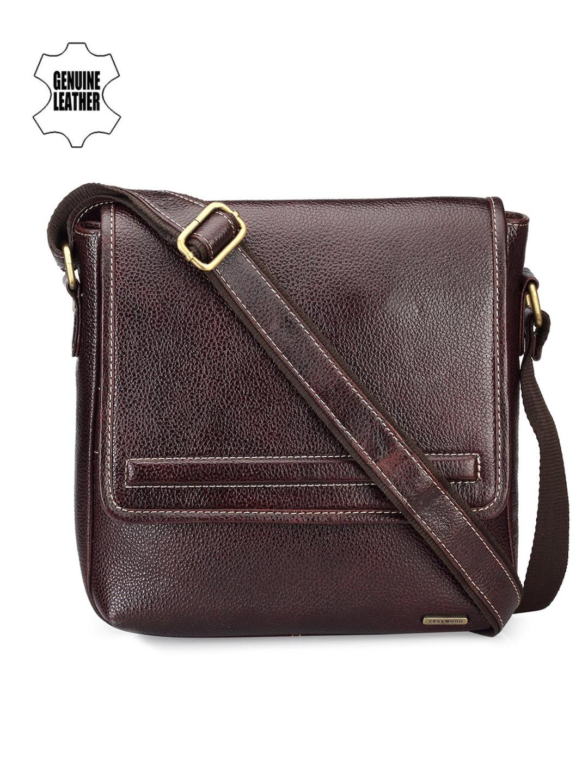Teakwood Leathers Men Brown Genuine Leather Messenger Bag