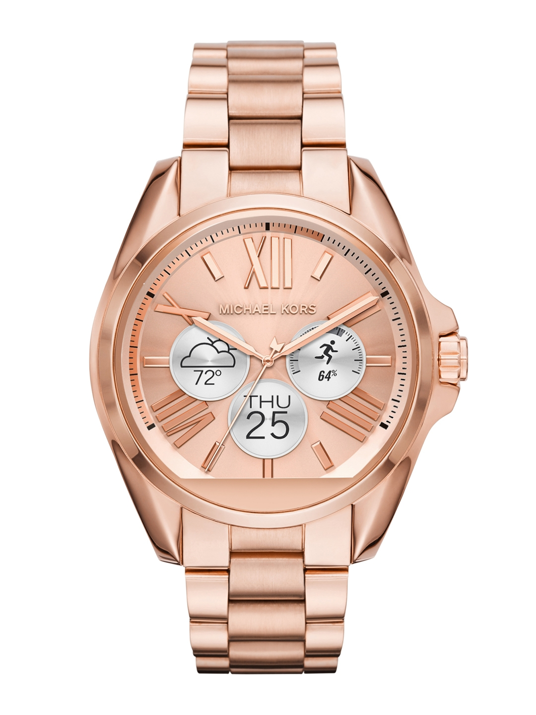 40dc20c6d96cb Buy Michael Kors Women Rose Gold Toned Smart Watch MKT5004 - Smart ...