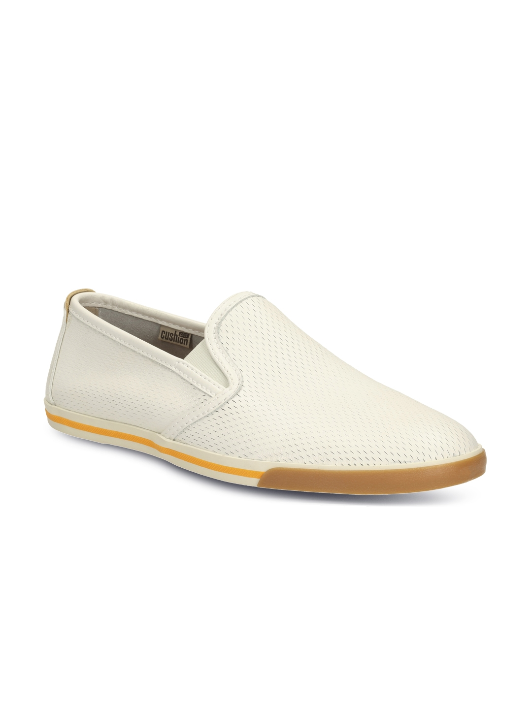341716a2415 Buy Clarks Men White Solid Regular Slip On Sneakers - Casual Shoes ...